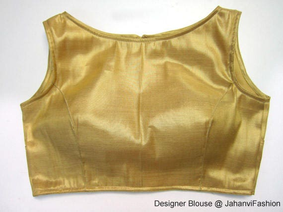 designer blouse with back hole princess cut blouse shimmer blouse with boat neck style Sari Blouse Sleeveless blouse