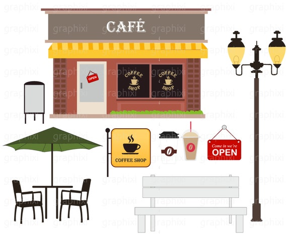 cafe clipart coffee shop vector cafe personal use clipart rh etsystudio com cafe clipart black and white cafe clipart free