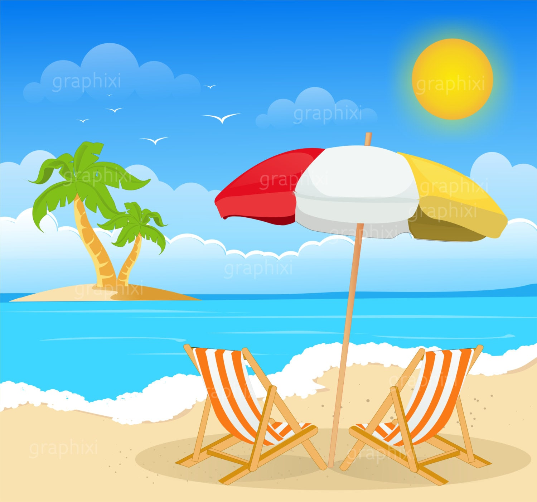 Clipart beach beach image summer holiday clipart | Etsy
