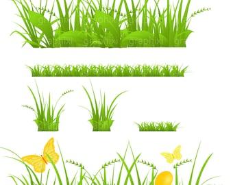 Grass Clipart, Vector Grass, Grass Clip Art, Clipart Commercial Use, Personal Use, Grass Digital Image, Digital Image,DIGITAL CLIPART