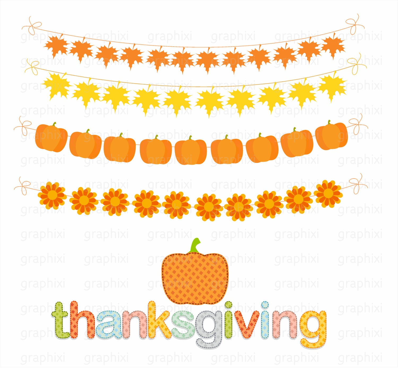 Thanksgiving banner thanksgiving clipart fall clipart | Etsy