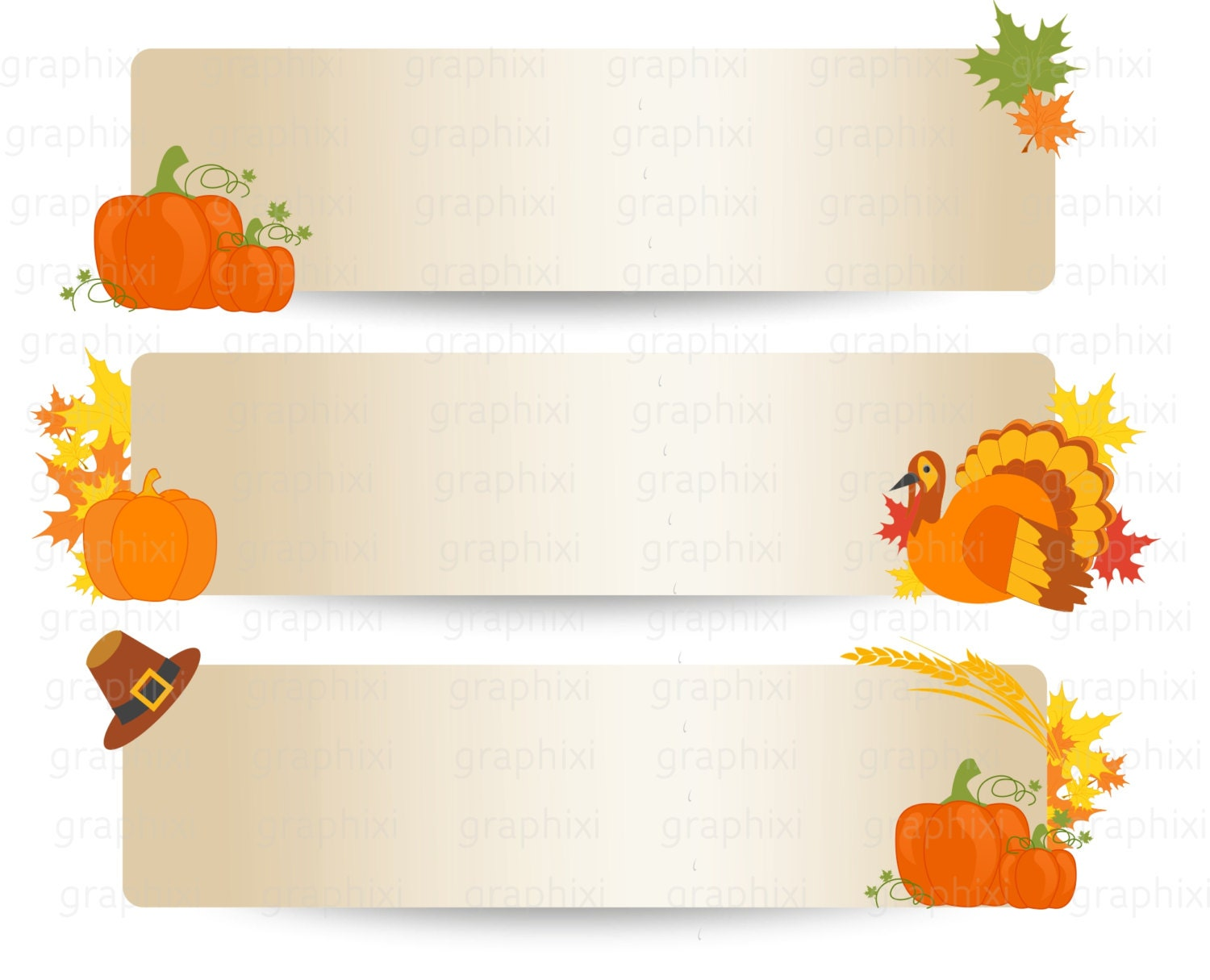 THANKSGIVING Banner Clipart commercial use personal use | Etsy