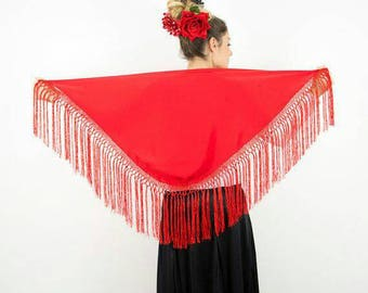 Smooth Mantoncillo with fringed knots