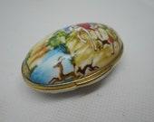 Stunning vintage Del Prado decorative lidded trinket pill box
