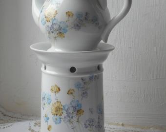stunning vintage Limoges porcelain coffee teapot pot and warmer