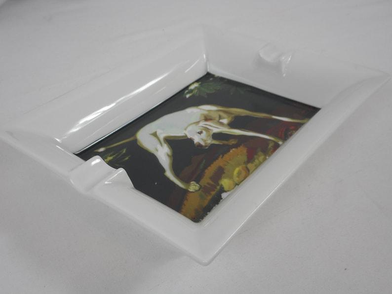 stunning vintage French Limoges porcelain table ashtray