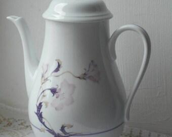 stunning vintage French Limoges porcelain coffee pot / tea pot