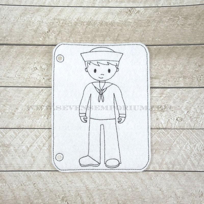 Soldado militar marinero marino total en los diseños de aro | Etsy