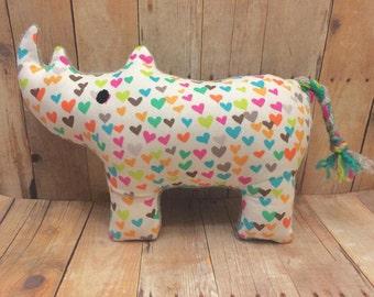 Rhinoceros Plush In The Hoop Machine Embroidery Design