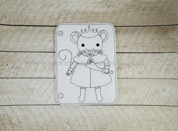 Rey de ratón de Cascanueces en el diseño de aro Doodle-It para | Etsy