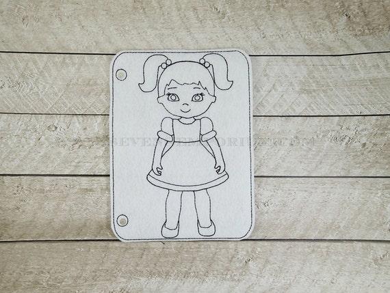 Disegno Bagno Da Colorare : Codini bambina nel disegno del cerchio doodle it da colorare etsy