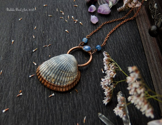 shell electroformed jewelry Bohemian Jewelry Nautical Necklace Mermaid/'s necklace nautical jewelry Bech Lover Real Shell necklace