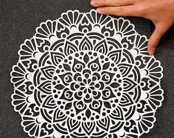 Laser cut Mandala Template. Template for laser cut decoration, Gift, Letter, etc. EPS SVG DXF cutting files, Silhouette Cameo, Cricut