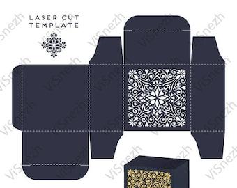 Laser cut Box Template. Wedding decoration. EPS SVG DXF cutting files, Silhouette Cameo, Cricut
