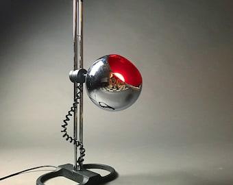 Seltene Deutsche Chrom Tischleuchte Von Staff Leuchten, Deutschland Der  1970er Jahre   Mitte Jahrhundert Moderne Space Age Kugel Schatten Tisch Und  ...