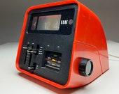 Elac RD 100 alarm flip clock radio made in Germany 1970s.