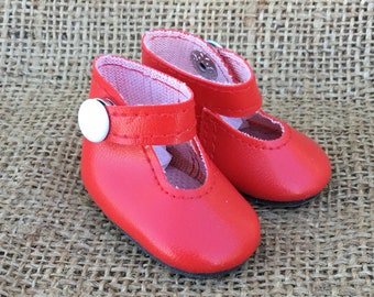 e74a44efd0b9 14.5 INCH DOLL Red Glitter Mary Janes Doll Clothes & Fashion Accessories  Dolls & Bears