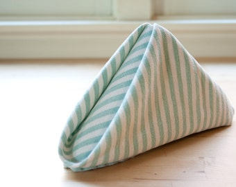 Teal and White Candy Stripe Napkin