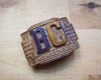 Art Deco High School Belt Buckle