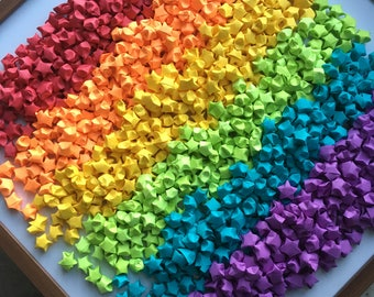 1000 Origami Stars - Rainbow Color