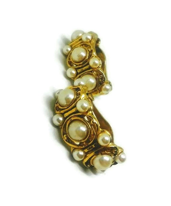Vintage Pearl Clip Earrings - Pearl Clip On Earrin
