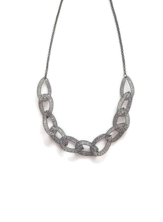 Swarovski Chain Necklace - Silver Chain Necklace -