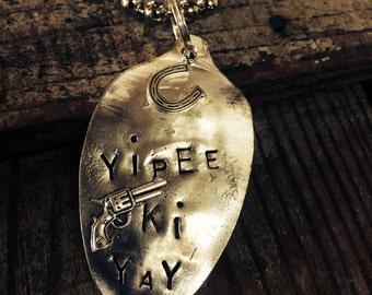 Yippee Ki Yay on vintage spoon