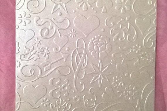 Realzado/Textured moderno diseño metálico y papel cartulina