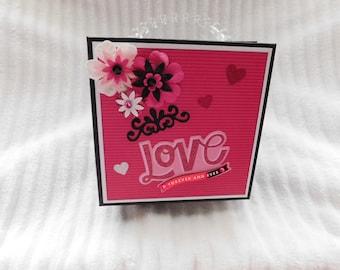 Valentine, Love, Sweetheart, Romantic Scrapbook Album