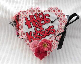 Valentine, Love,Sweetheart, Heart Shape Scrapbook