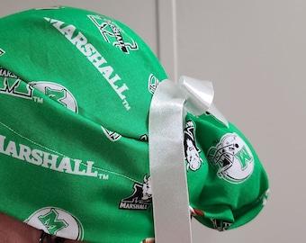 Smoke Free Home Thundering Herd Doctor Scrub Hat Nurse CRNA Marshall University Bouffant Scrub Cap Christmas Gift
