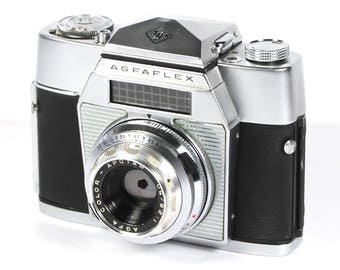 Agfa Agfaflex II S 35mm Camera Color Apotar Lens, Made In Germany 1950s, Vintage Agfa Camera