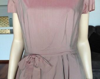 1950s Dusky Pink Day Dress ON SALE