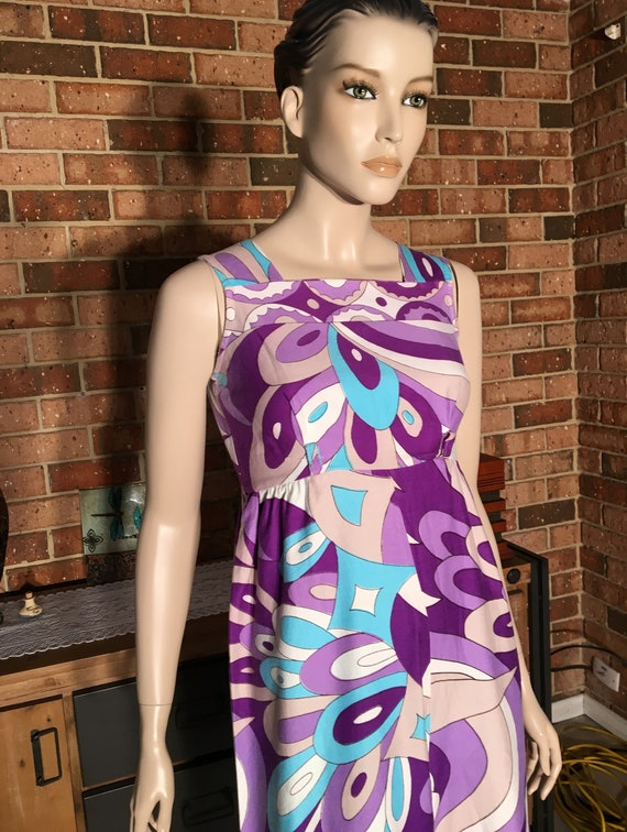 Retro 60s Psychedelic Wide Leg Jumpsuit Small