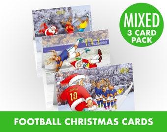 Football Christmas card | 3 card pack |
