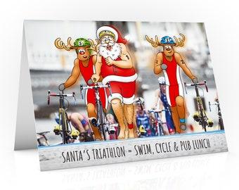 Triathlon Christmas card