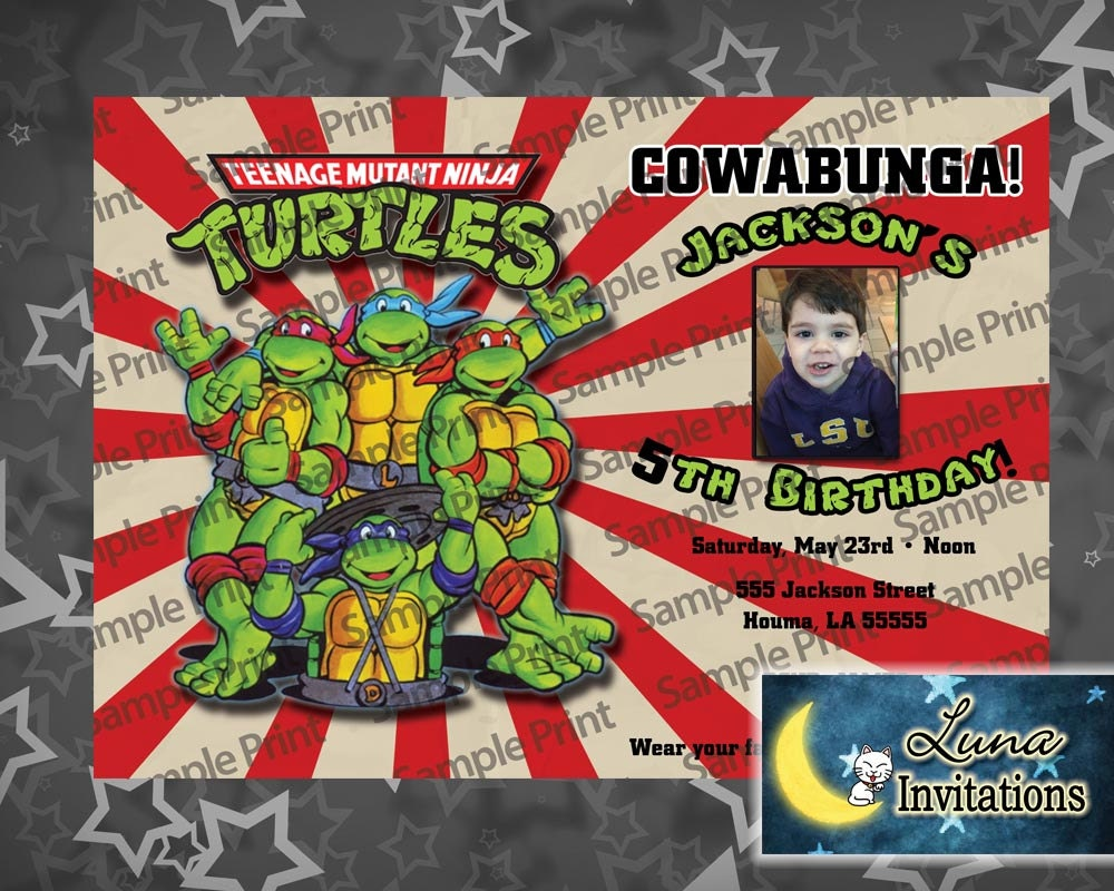 Ninja Turtles Party Invitation diy Printable | Etsy