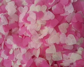 1500 pieces handmade biodegradable wedding confetti- pale pink and hot pink