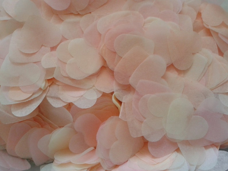 1500 pieces handmade biodegradable wedding confetti peach image 0