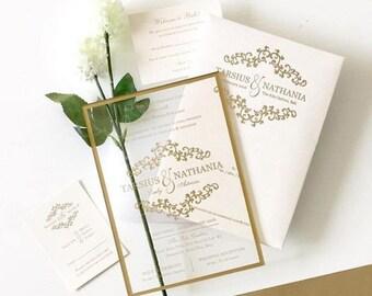 Clear Wedding Invitations Wedding Invitation Wording