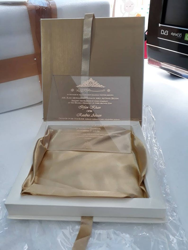 100 Personalised Luxury Laser Cut Logo Silk Wedding Invitation Boxes With Buckle Boxed Invitations