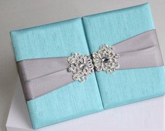 100 Personalised Luxury Gate Folio Satin Silk Folio Invitaton Boxes with Rhinestone Buckle