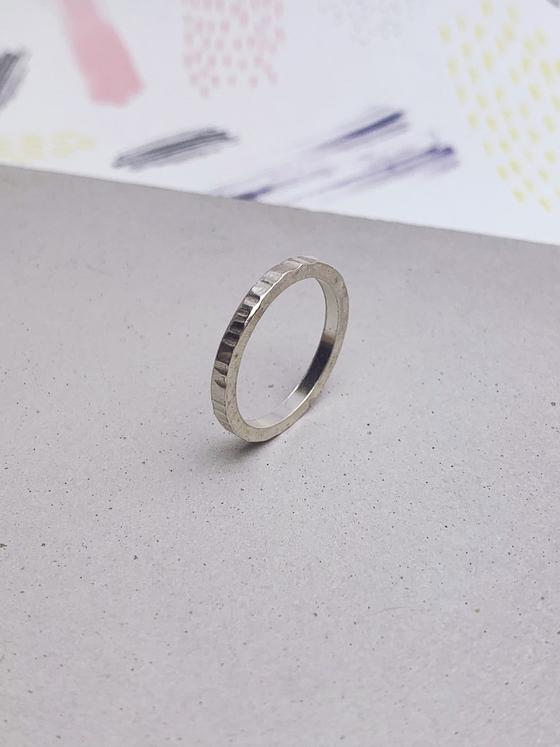 Sterling silver thin band 2mm sterling silver ring with image 0