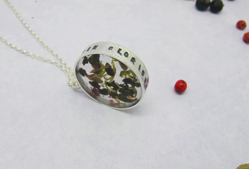 Gin Glorious Gin Gin inspired sterling silver necklace with image 0