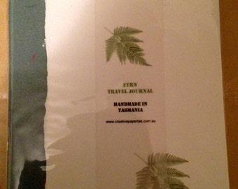A5 Travel Journal hardcover - Fern design