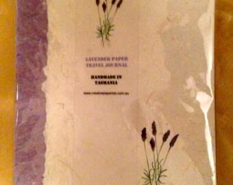 A5 Travel Journal Hardcover - Lavender design