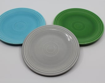"FIESTA Grey Gray Pearl 10 1//2/"" Dinner Plate Fiestaware  HLC USA Retired Color"