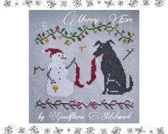 Cross Stitch Pattern ~ Merry Eve ~ Instant PDF Download!