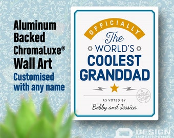 Granddad Gift, For An Awesome Granddad! Birthday Gifts For Granddad! New Granddad Gift, Personalized And Delivered Direct To Your Door!