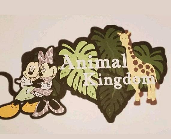Disney Inspired Animal Kingdom Printed Scrapbook Page Titles Etsy